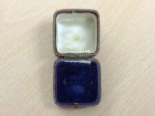 Antiguo anillo de la joyería de cuero caja de joyería 1900