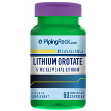 Lithium Orotate 5 mg 60 caps Piping Rock