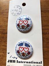 Jhb International buttons blue birds hearts Beautiful Design