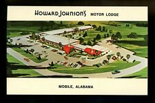 Motel / Hotel chrome postcard Alabama AL Mobile, Howard Johnson's Motor Lodge