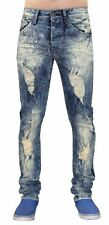 New Mens Loyalty & Faith Ripped Style Stretch Skinny Slim Fit Cotton Denim Jeans