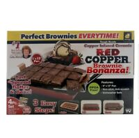 Red Copper Brownie Bonanza Pan As Seen on TV