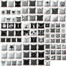3D Geometric Cushion Cover Home Sofa Decor Black & White Linen Throw Pillow Case