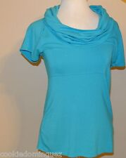 Antonio Melani Cowl Neck Short Sleeve Blouse Top Shirt SIZE Small