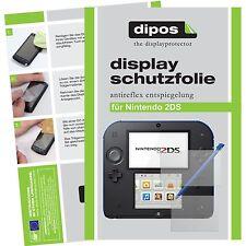2x Nintendo 2DS Lámina protectora de pantalla mate Dipos