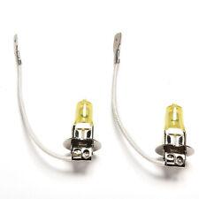 2x goldenes gelbes Auto-Licht 12V H3 Scheinwerfer-weiße Nebel-Halogenbirne 55W