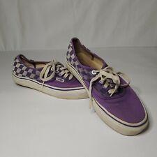 VANS Plaid Purple Lace Up Shoes Men's 7 Women's 8.5