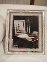 Oleg Cassini Diamond Crystal Picture Frame 8x10 Wedding #134