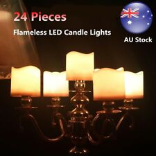 24PCS LED Tea Light Candle Tealight Flameless Battery Operated Wedding Christmas