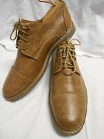 Excellent Condition Izod Men's Light Brown Leather Cap Toe Oxfords Size 10M