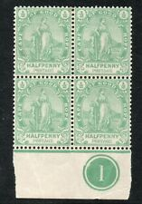 CAPE of GOOD HOPE 1893 1/2d *** PLATE BLOCK *** cat. £44+