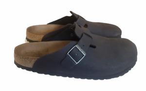 Birkenstock  Boston Soft Footbed Black Suede size 44 US Size 11