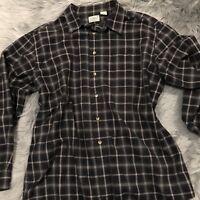 Vintage L.L.Bean Men's Flannel Shirt Size XL Soft 100% Cotton Grey Top
