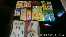 (1) Lot of Vintage Fishing Lures and flies, some never opened.