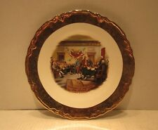 """9.5"""" Collector Plate Decloration of Independence John Trumbull Gold Rim"""