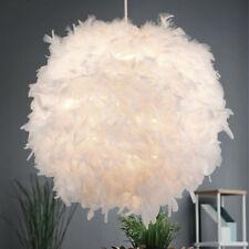 Luxus Entenfeder Hängelampe Schlafzimmer Papier Kugel Decken Pendelleuchte weiß