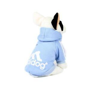 Adidog Dog Hoody - Baby Blue, Pink, Black - Large