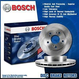 Pair Front Bosch Disc Brake Rotors for Nissan Micra K12 Cube Cubic Z11 I4 16v