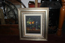 Stunning Still Life Painting-Fruit In Bowl-Wine Pitcher-Signed L Habady-Pears