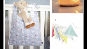 Little Bird Bunting Cot Pockets 2 Jools Oliver Bambi Deer Toadstools Immaculate
