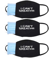 I Can't Breathe Face Mask -3pcs I Cant Breathe mask with Filter Insert pocket