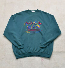 Vintage 90s St Michael Green Flag Embroidered Sweater Size XL