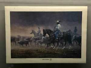 """Vintage Jimmie Abeita """"A Day One Half Or Thirty One Miles"""" Art Poster"""