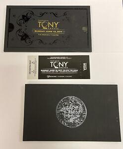 2011 TONY AWARDS Nominee TICKET In Fancy Box! 65th Annual TONYS! Benefits ATW!!