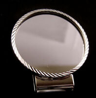 Coin Money Clip 38mm Silver Dollar D/C Sterling Silver Bezel Rhodium Hinge Back