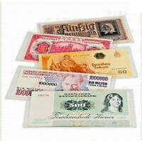 Protège-billets - Lot 50 pochettes billets banque - Choix multiple - LEUCHTTURM
