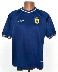 SCOTLAND NATIONAL TEAM 2000/2002 HOME FOOTBALL SHIRT JERSEY FILA SIZE M ADULT