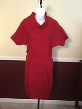 Limited Red Acrylic Sweater Dress NWT! Medium