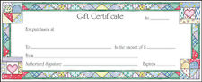 Merchant Retail Gift Certificates 60 ct Quilt Print with Envelopes Made In USA