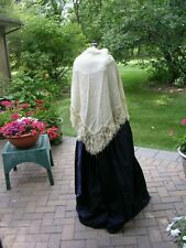 Mademoiselle Victorian Civil War Dickens Dress Ball Gown & Shawl Costume sz 8