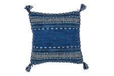 Cojín Aspecto Antiguo 100% algodón relleno de poliéster azul NUEVO 45x45 cm