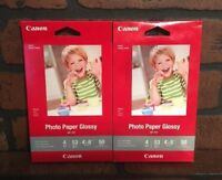 "Canon Photo Paper Glossy 4"" x 6"" Glossy GP-701 Lot Of 2 NEW"