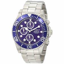 Invicta Men's Watch Pro Diver Chrono Blue Dial Stainless Steel Bracelet 1769