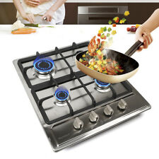 4 Burners Gas Stove Cooktop Lpg/Ng Convertible Stainless Steel Surface Home Usa