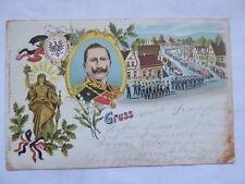 Litho-AK Militaria Militärumzug Kaiser Wilhelm Hirschfelde