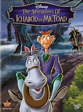 Disney: Adventures of Ichabod and Mr. Toad animated G movie, new DVD, Halloween