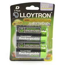 2Pk D 3000mAh NiMH Rechargeable Accu Ultra Batteries Up To 1000 Charges B017