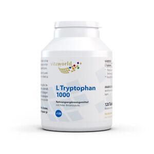 Vita World L-Tryptophan 1000mg 120 Tabletten Made in Germany L Tryptophan