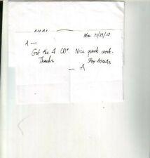 Art Garfunkel Autographed Handwritten Note #3 Simon & Garfunkel
