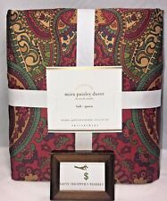 POTTERY BARN MIRA PAISLEY FULL/QUEEN DUVET COVER NEW - NWT NO SHAMS SOLD OUT