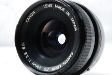 Canon FD 28mm F3.5 S.C. Lens  SN112628