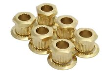 Kluson Hex Head conversion bushings for 6mm tuning posts - Gold