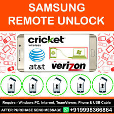 At&t Cricket Verizon USA Samsung Galaxy J3 Emerge J7 Remote Unlock Code Service