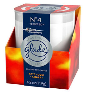 Glade Atmosphere Collection No. 4 Tempted Crafted Soy Candle - Patchouli Amber