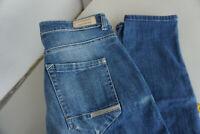MAC Laxy Damen Jeans stretch Hose 36/28 W36 L28 destroyed used look blau #50