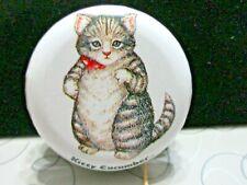 KITTY CUCUMBER YO-YO CAT VINTAGE METAL TOY B. SHACKMAN Co. 5th Ave NYC 1984